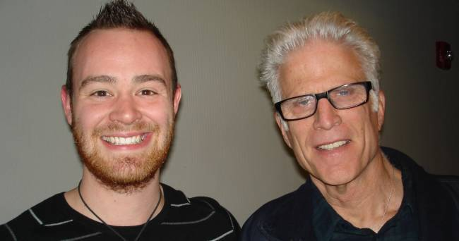 TV Star Ted Danson at Audio Productions to loop dialoge for CSI.